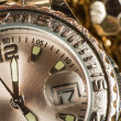 Stock Photo: Shiny gold color watch