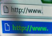 Navegador de internet — Fotografia Stock