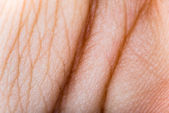 Close up human skin. Macro epidermis — Stock Photo