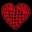 Knitted red heart — Stock Photo #38895727