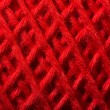 Red yarn close up — Stock Photo