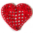 Knitted red heart — Stock Photo #38895825