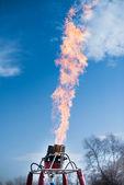 Fire from balloon flight — Stock Photo