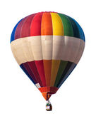 Multicolored Balloon white isolated — Stock Photo