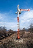железнодорожный семафор — Стоковое фото