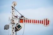 železniční semafor — Stock fotografie