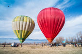 BANSKO, BULGARIA - CIRCA JANUARY 2014: Multicolored Balloons in — Stock Photo
