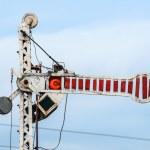 Train Semaphore mechanical — Stock Photo