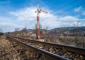 Train Semaphore mechanical — Foto de Stock