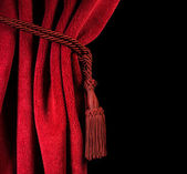 Red theatre curtain — Stock Photo