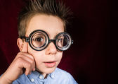 Child with big glasses — Foto Stock