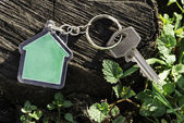Keychain in a shape of house — Stock Photo