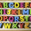 Latin alphabet multicolored letters — Stock Photo