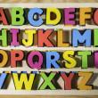 Latin alphabet multicolored letters — Stock Photo #41936251