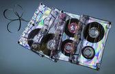 Vintage cassette tapes — Stock Photo