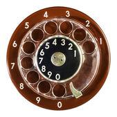 Vintage red phone digits — ストック写真
