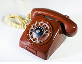 Vintage red phone — Stock Photo