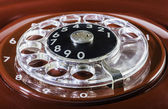 Vintage red phone digits — Stock Photo