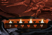 Candles and heart shapes — Stockfoto