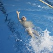 Child swimmer in swimming pool — Stock Photo #46088159