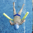 Child swimmer in swimming pool — Stock Photo #46763875