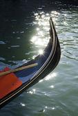 Ancient gondola in Venice — Stockfoto