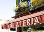 Italian ice cream shop — Stock Photo