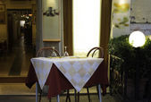 Table in an Italian restaurant.  — Stockfoto