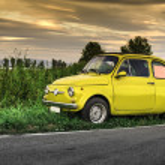 Постер, плакат: Small vintage italian car Fiat Abarth