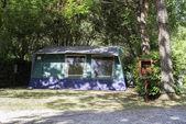 Tent on campsite — Stock Photo