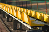 Chairs in the stands of the stadium — Stock Photo