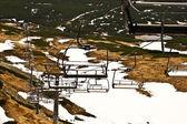 Seggiovia sulla pista da sci in polonia — Foto Stock