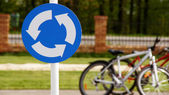 A road sign with bicycles 2 — Stock Photo