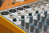 Audio console in my studio — Stock Photo