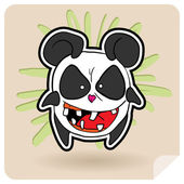Angry panda — Stock Photo
