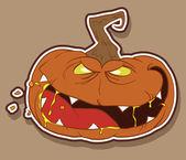 Wicked pumpkin for Halloween — Stock Photo