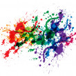 Color paint splashes - Stok fotoğraf