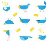 Pássaros azuis — Foto Stock