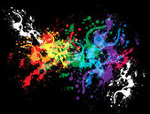 Colourful bright ink splat — Stock Photo
