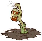 Mano zombie dipinge graffiti — Foto Stock