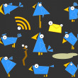 图库照片: Icon Bluebirds