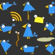 Royalty-Free Stock Immagine Vettoriale: Icon Bluebirds