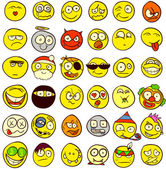 36 Smiley — Stock Vector