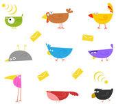 Vögel farbe — Stockvektor