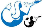Logo Mermaid — Stock Vector