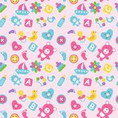 Toys Seamless Wallpaper — Stock Vector