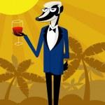 Wine Badger — Stock Vector