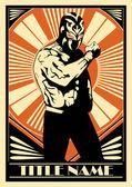 Mexican Wrestler — Stock Vector