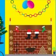 Royalty-Free Stock Vectorafbeeldingen: Santa in Chimney