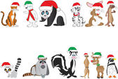 Christmas Animals Collection — Stock Vector